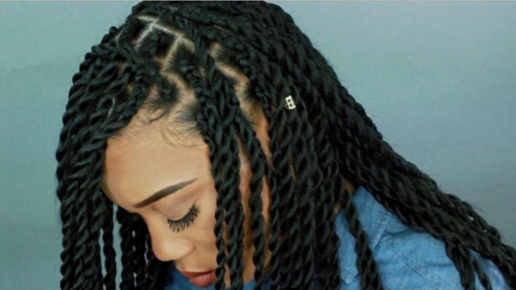 braiding natural hair with extensions